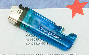 Cigarette Lighter Sent in Marketing Letter