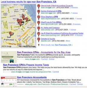 "Google Results for ""San Francisco CPA"""