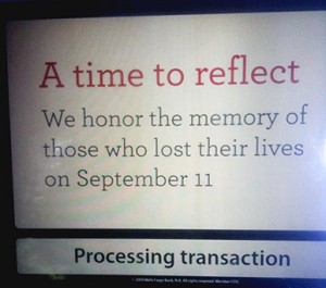 Well Fargo ATM with 9-11 Message