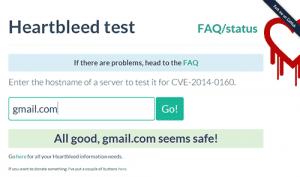 Heartbleed patch test screenshot