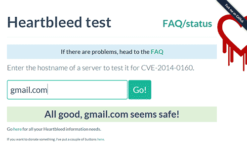 Heartbleed patch test screenshot
