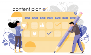 Social Media Content Planning Chart